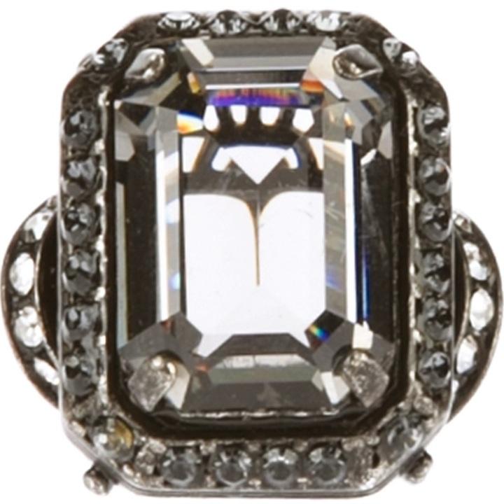 Lanvin faceted gem ring