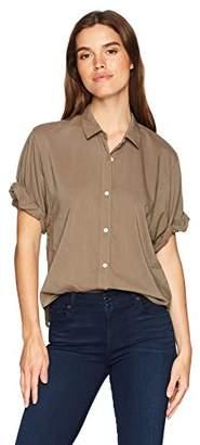 Splendid Women's Boyfriend Short Sleeve Shirt