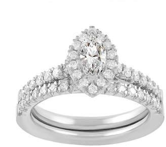 MODERN BRIDE Womens 3/4 CT. T.W. Genuine White Diamond 14K White Gold Bridal Set
