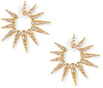 Oscar de la Renta Sea Urchin Small Crystal Earrings