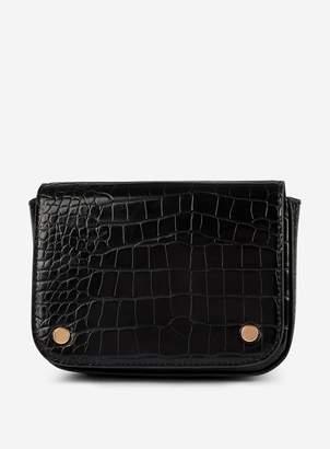 Dorothy Perkins Womens Black Crocodile Design Belt Bag