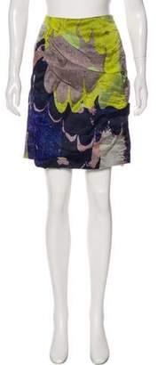 Michael Van Der Ham Silk Printed Skirt