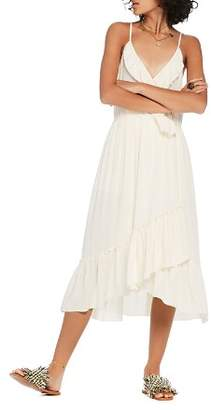 Scotch & Soda Faux-Wrap Midi Dress