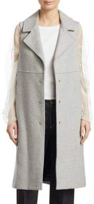 See by Chloe Long Wool Gilet