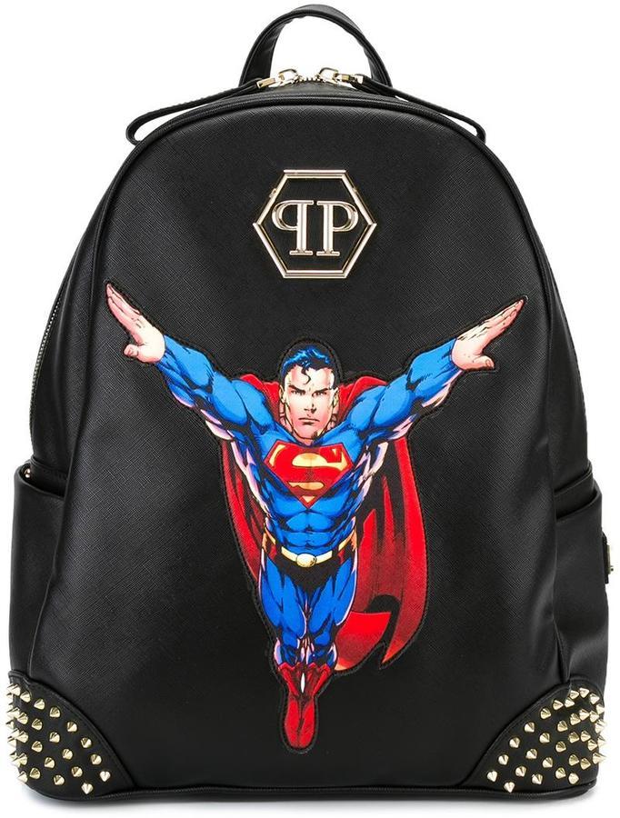 Philipp Plein Superman patch backpack