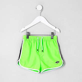 River Island Mini boys lime green swim trunks
