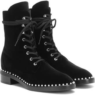 Stuart Weitzman Sondra velvet ankle boots
