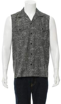Saint Laurent 2014 Sleeveless Button-Up Shirt