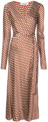 Diane von Furstenberg baker dot wrap dress