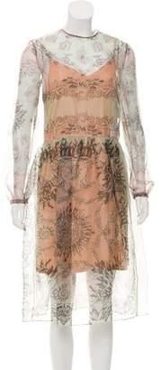Valentino Silk Seaside Dress w/ Tags