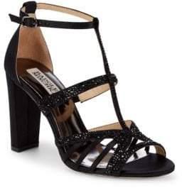 Badgley Mischka Hewitt Embellished T-Strap Sandals