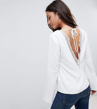 Asos Tall TALL Deep Plunge Lace Insert Top
