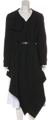Marni Wool Asymmetrical Cape Black Wool Asymmetrical Cape