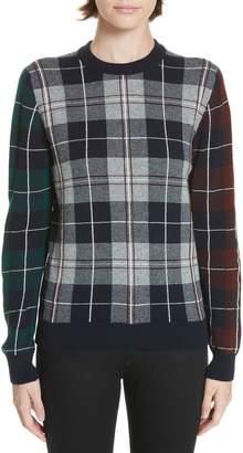 Nell &Daughter Tartan Patchwork Cashmere Sweater