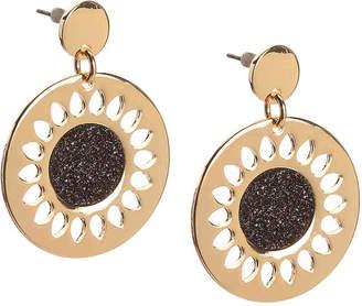 Kelly & Katie Glitter Disc Drop Earrings - Women's