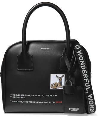Burberry Small Printed Leather Shoulder Bag - Black