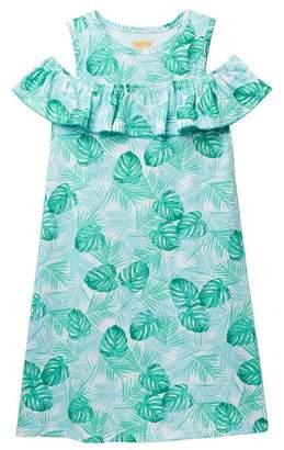 Harper Canyon Cold-Shoulder Ruffle Dress (Little Girls & Big Girls)
