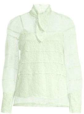 Sandro Lizzi Lace& Bow Top