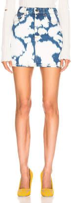 Burberry Denim Mini Skirt in Blue | FWRD