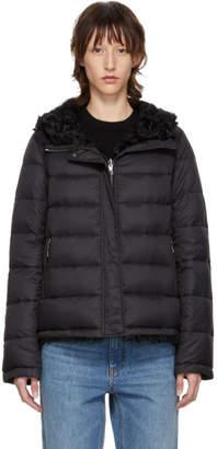 Yves Salomon Army Reversible Black Down Shearling Coat
