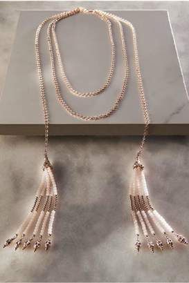 Paige Charlie Beaded Tassel Necklace