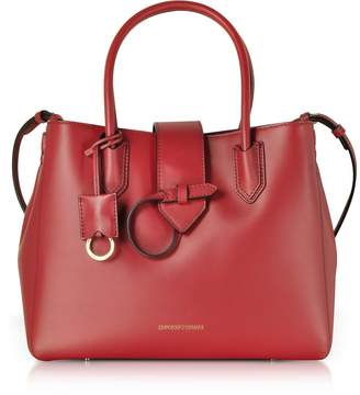 Emporio Armani Smooth Leather Tote Bag