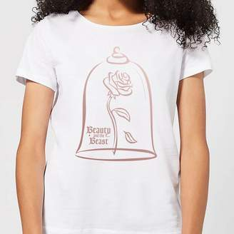 c463a6db Disney Beauty And The Beast Rose Gold Women's T-Shirt