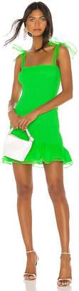Amanda Uprichard Amara Smocked Mini Dress