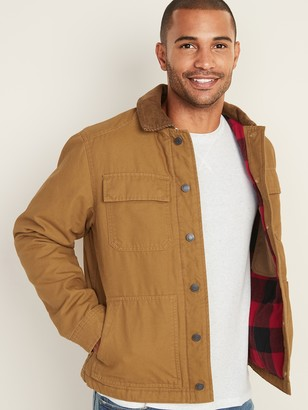 Old Navy Flannel-Lined Canvas Workwear Jacket for Men