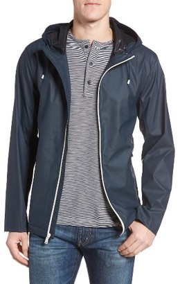 Men's Cole Haan Rubberized Hooded Jacket $140 thestylecure.com