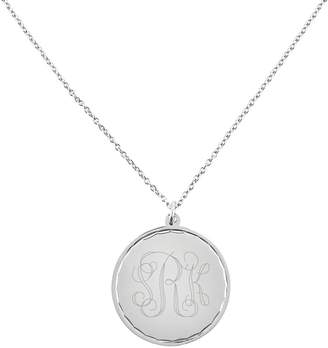 """Steel By Design Stainless Steel Engravable Round Disc Pendant w18"""" Chain"""