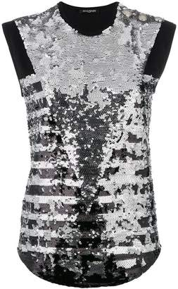 Balmain sequins top