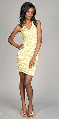 Yellow Metallic Dresses by Nicole Miller