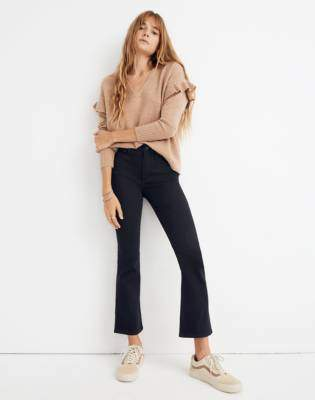 Petite Cali Demi-Boot Jeans in Black Frost: Tencel Edition