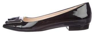 Prada Patent Leather Buckle Flats