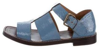 Trademark Distressed Leather T-Strap Sandals
