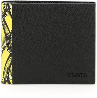 Prada Saffiano Wallet With Banana Print