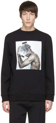 Neil Barrett Black Hybrid Tattoo Sculpture 01 Sweatshirt