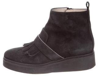 Fabiana Filippi Embellished Suede Ankle Boots
