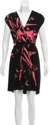 Miu Miu Sleeveless Printed Mini Dress