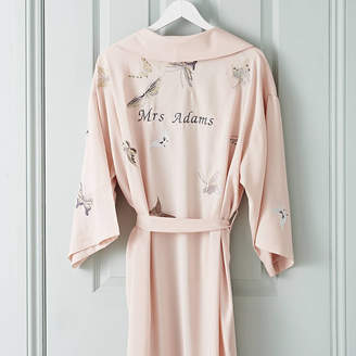 73544836bc Mini Lunn Personalised Bridal Butterfly Long Dressing Gown