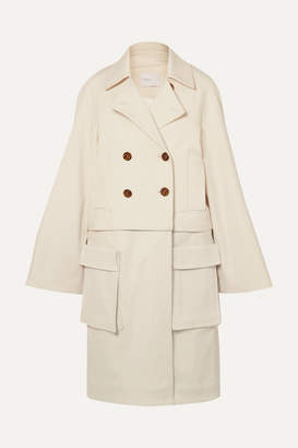 Rosetta Getty Convertible Double-breasted Cady Jacket - Cream
