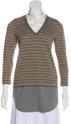 Akris Punto Wool Striped Top