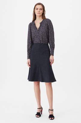 Rebecca Taylor Tailored Pinstripe Suiting Skirt