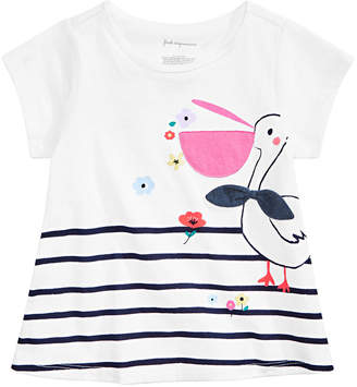 First Impressions Baby Girls Pelican Graphic T-Shirt