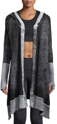 Blanc Noir Huntress Hooded Open-Front Cardigan