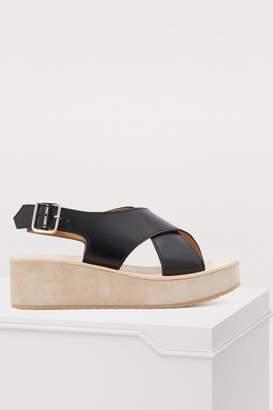 A.P.C. Mae wedge-heeled sandals
