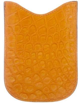 Gucci Crocodile Phone Holder Orange Crocodile Phone Holder