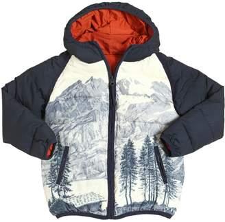 Nice Things Mountains Printed Nylon Puffer Jacket
