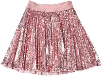 MonnaLisa Sequined Plisse Tulle Skirt